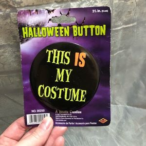 This Is My Costume Button